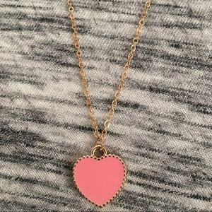 Pink Heart Shaped Necklace